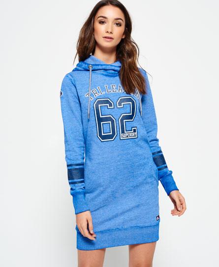 kräftig blau Superdry Tri League Slouch Hoodie Kleid