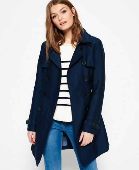 ink Superdry Belle Trench Coat