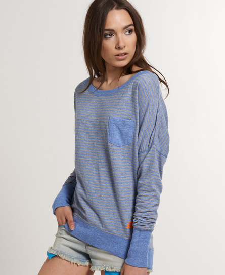 Superdry Grindle Stripe T-shirt Blue