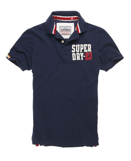 Superdry Phys-Ed Polo Navy