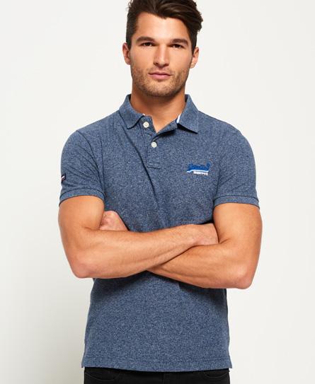 boston blue grit Superdry Classic Cali Pique Polo Shirt