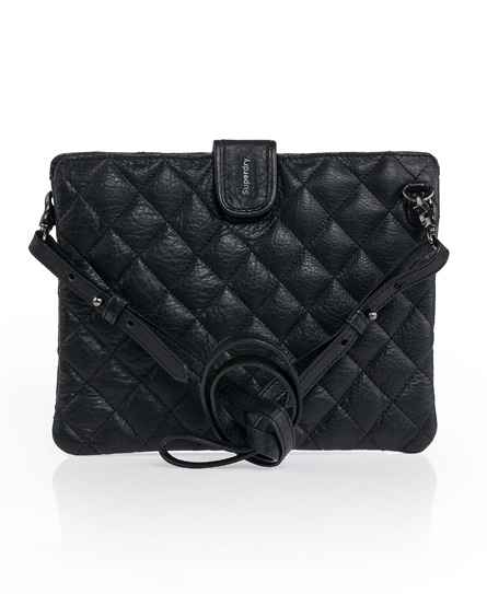 Superdry Tablet Shoulder Purse Black