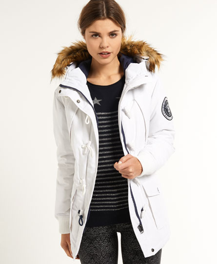 Womens - Everest Duffle Coat in Glacier/dark Navy | Superdry