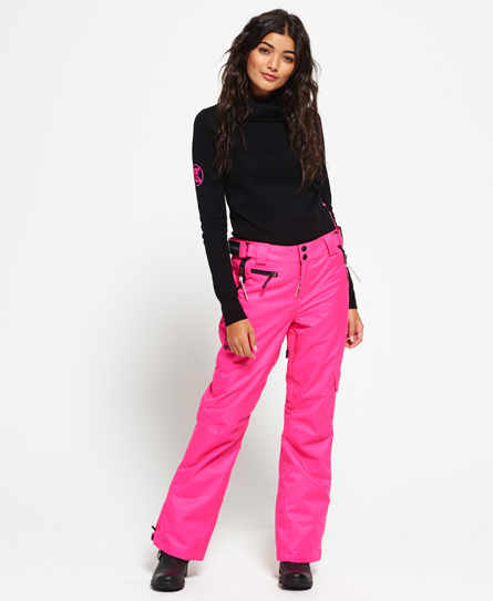 fluro pink Superdry Snow Pants