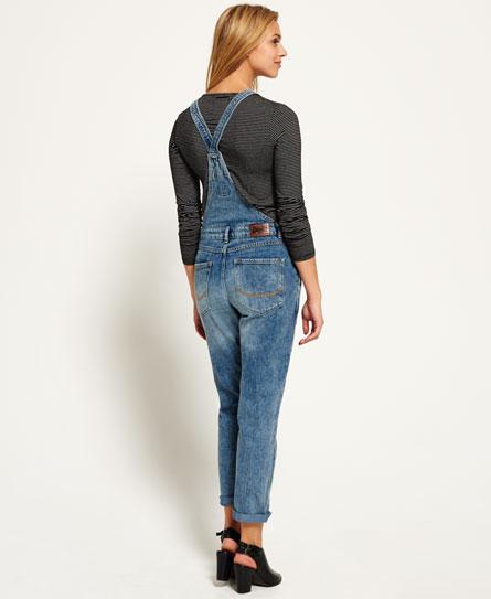 superdry jodie boyfriend latzhose damen jeans. Black Bedroom Furniture Sets. Home Design Ideas