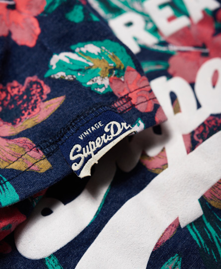 Superdry Camiseta tropical con logo Vintage