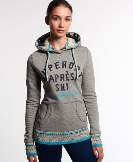 superdry retro knit mix hoodie damen hoodies. Black Bedroom Furniture Sets. Home Design Ideas