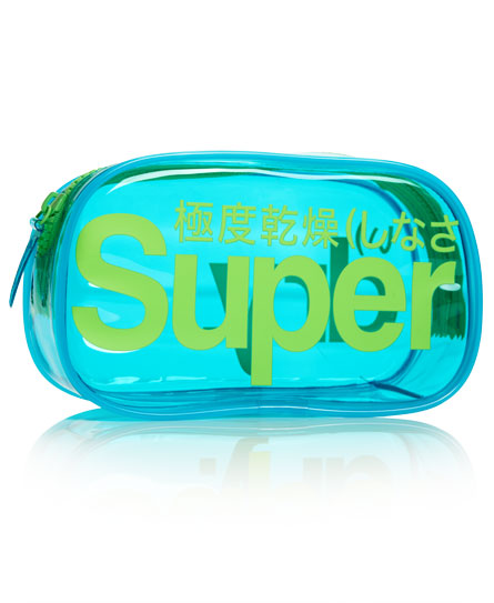 blue Superdry Neon Bag