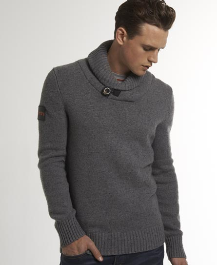 Superdry Conner Henley Jumper Grey