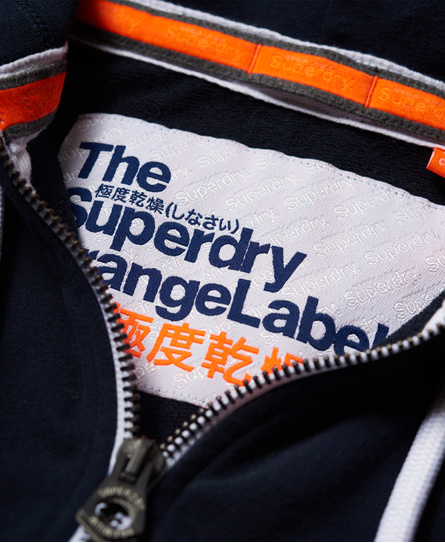 Superdry Orange Label Lite huvtröja med dragkedja