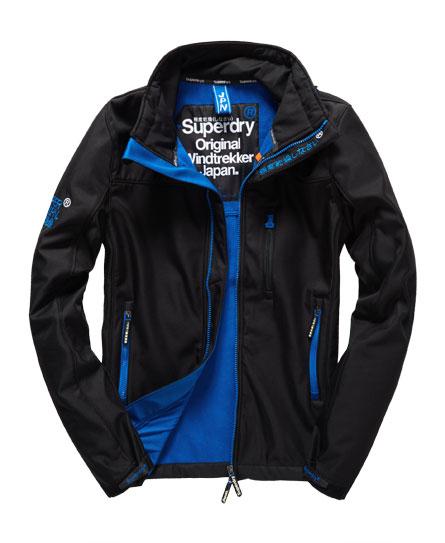 Superdry - Windtrekker Jacket Black/Royal Blue