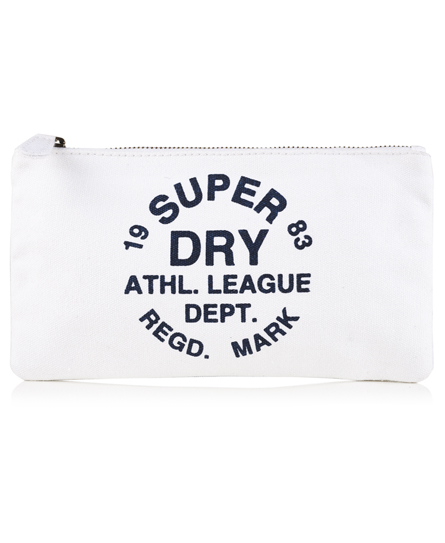 cream Superdry Athletic League Pencil Case