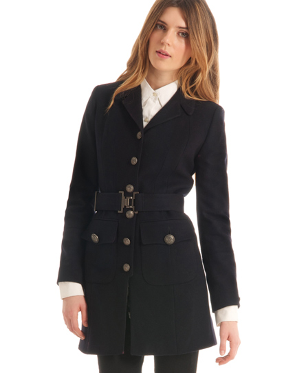 Superdry Wren Coat Navy