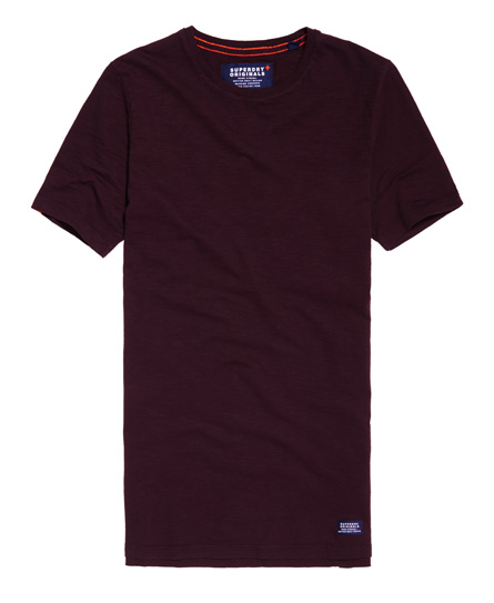 dry aubergine Superdry Originals Longline T-shirt
