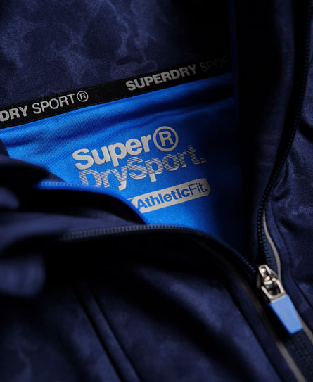 Superdry Sports Athletic Panel Zip Hoodie