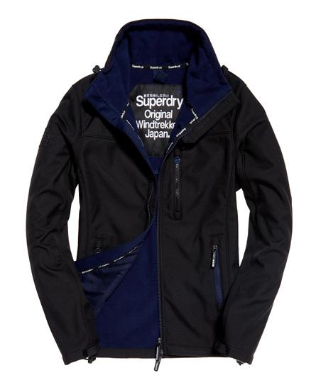 schwarz/dunkel indigoblau Superdry SD-Windtrekker Jacke
