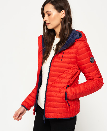 Superdry damen winterjacke rot