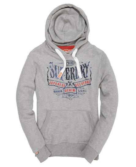 Superdry Selvedge Hoodie Grey