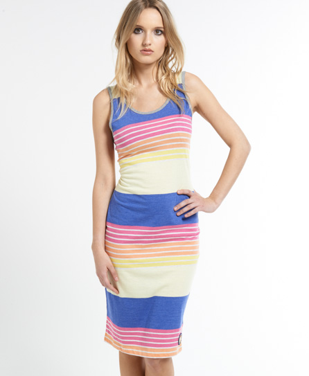 Superdry Far Out Midi Dress Yellow