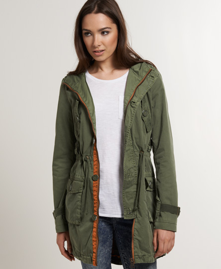 Superdry Desert Parka Green