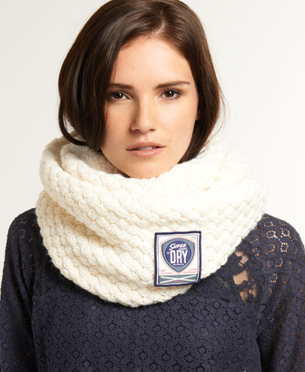 Superdry Cable Herder Snood Cream