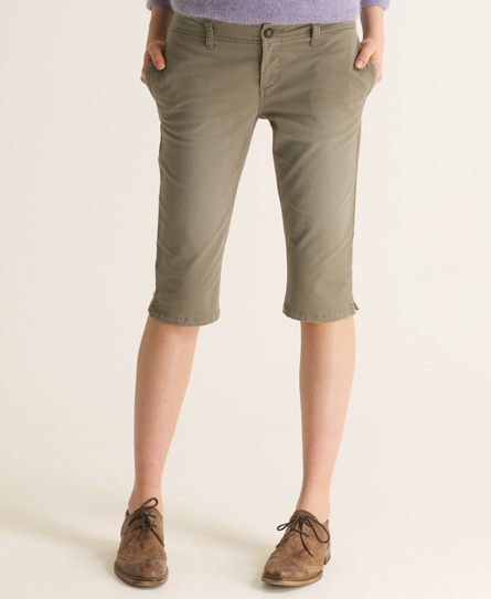 Superdry Commodity Capri Pant Green