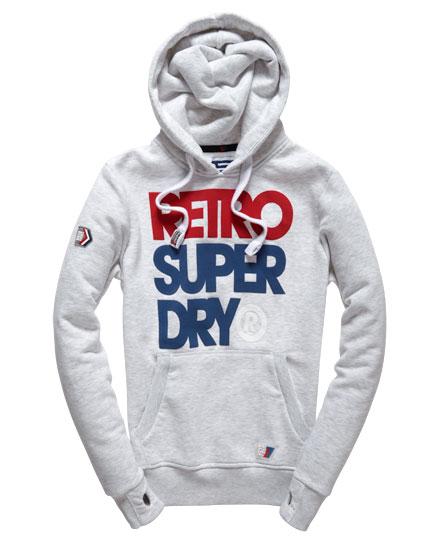 superdry retro hoodie herren hoodies. Black Bedroom Furniture Sets. Home Design Ideas
