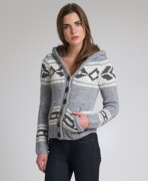 Superdry Astrid Hooded Cardigan Dk Grey