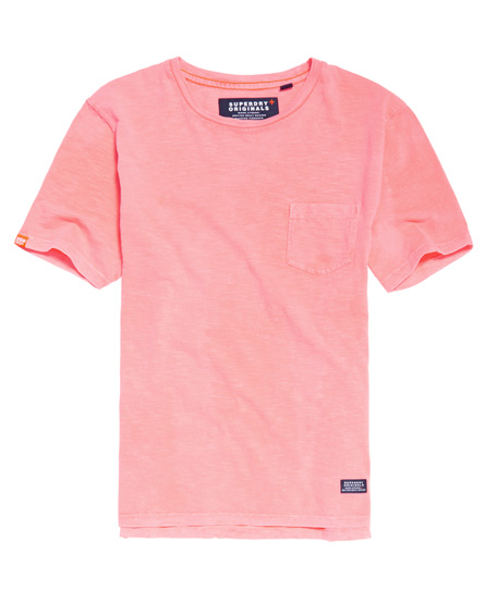 dry shock pink Superdry Originals Pocket T-shirt