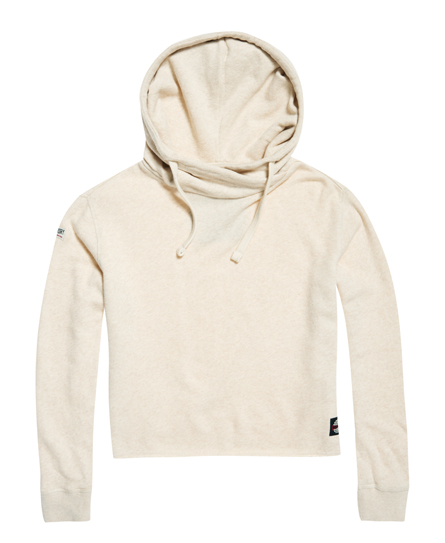 Marl Crop hoodie