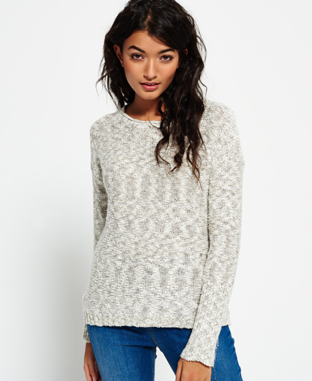 white lurex twist Superdry Super Icarus Strickpulli