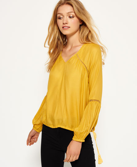 sandy ochre Superdry Wichita Bluse