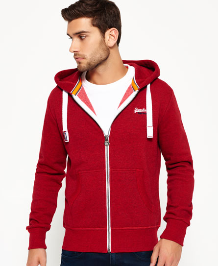redhook grit Superdry Orange Label Zip Hoodie