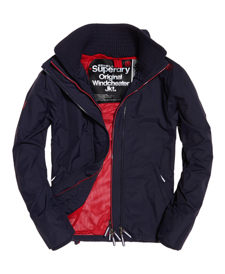 Superdry Superdry Technical SD-Windcheater jakke med farverig lynlås