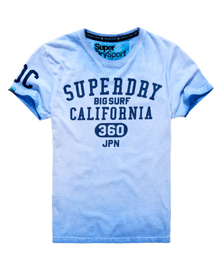 mens big surf t shirt in optic light indigo superdry. Black Bedroom Furniture Sets. Home Design Ideas