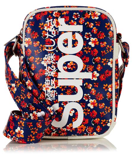 splattered floral red Superdry Festival Tasche