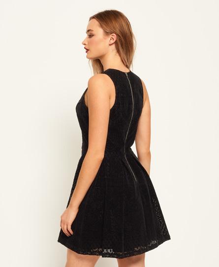 Superdry Flocked Velvet Skater Dress