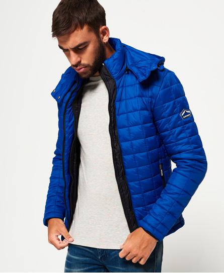 sport code royal Superdry Hooded Box Quilt Fuji Jacket