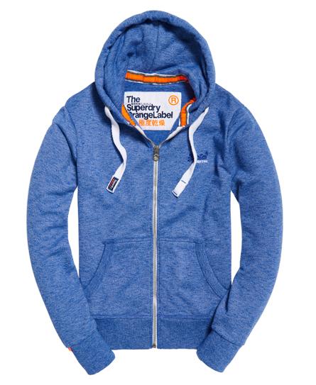 Orange Label hoodie met rits