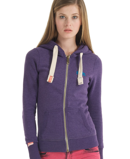 Superdry Vintage Zip Hoodie Purple