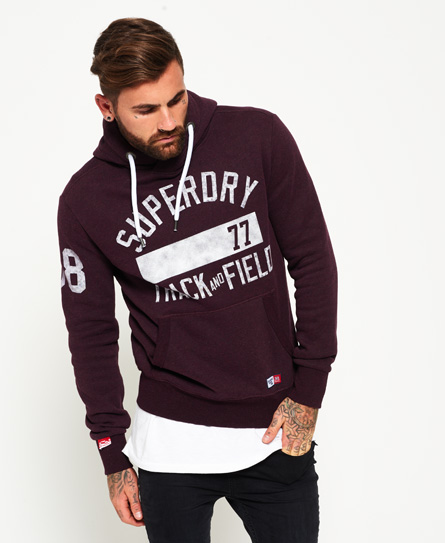autumn blackberry marl Superdry Trackster hættetrøje