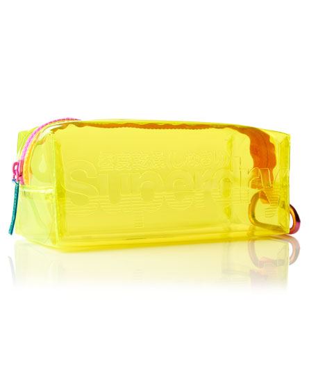 lime Superdry Jelly Pencil Case