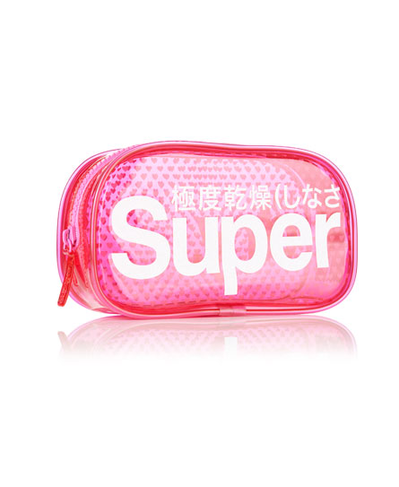 pink Superdry Micro Heart Neon Bag