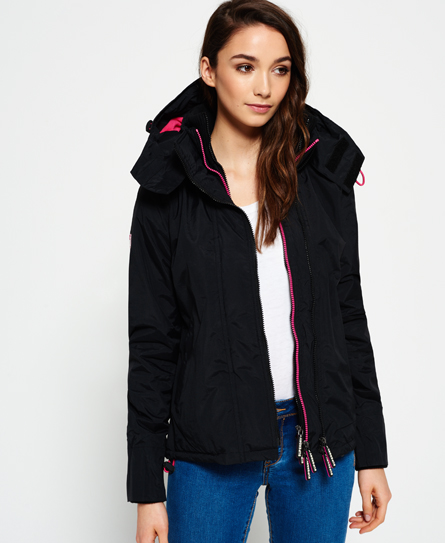 black/punk pink Superdry Pop Zip Hooded Arctic SD-Windcheater Jacket