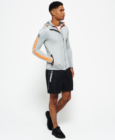 Superdry Sports Athletic Panel Zip Huvtröja