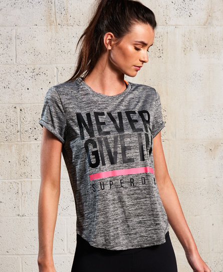 chiné foncé Superdry T-shirt SD Sport Fitspiration