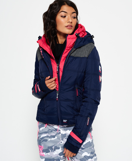 superdry veste de ski capuche box polar elements vestes et manteaux pour femme. Black Bedroom Furniture Sets. Home Design Ideas