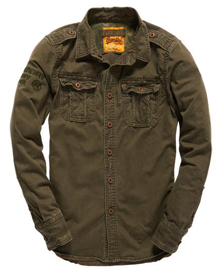 superdry military artillery hemd herren shirts. Black Bedroom Furniture Sets. Home Design Ideas
