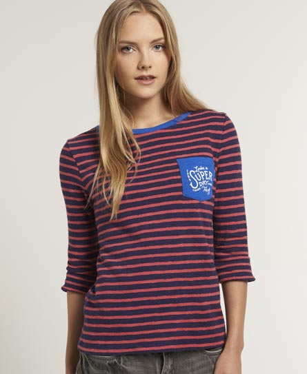 Superdry Land Slubber T-shirt Pink