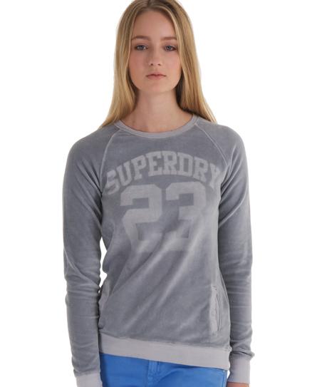 Superdry Ventura Velvet Crew Grey
